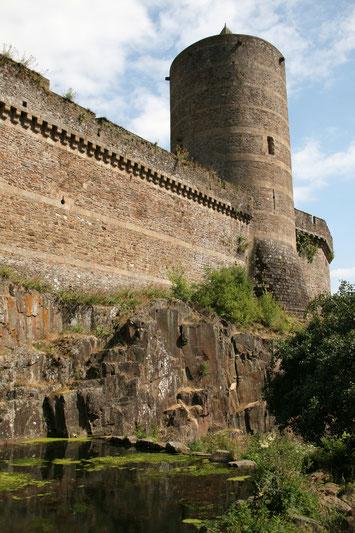 La tour Mélusine du château de Fougères©E.Agniel