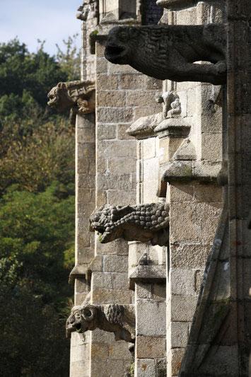 Gargouilles de l'église Saint-Sulpice Fougères © D. Bordes