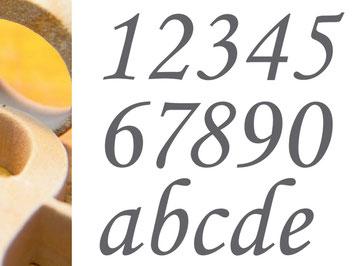 Virtuelle Ernst-Ludwig-Buchmesse: Buchstaben und Zahlen aus Sandstein