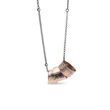 Shibuichi Anhänger mit geschwärzter Silberkette von Michelle Kraemer - Atelier STOSSIMHIMMEL
