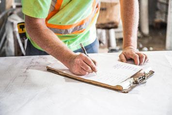 Préparation de chantier par le maitre d'oeuvre et le chef de chantier avec pajot entreprise - Sud Ouest