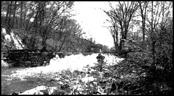 This is the site of the old Plumbing Works and the first Juengst Shop on Croton River, Croton Falls