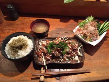 生姜焼き鳥定食