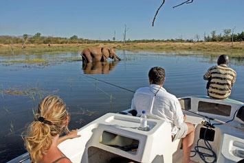 Hausboot auf dem Zambezi