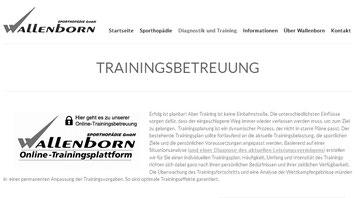 Trainingsplanung und Coaching mit Wallenborn Sporthopädie