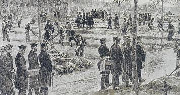 Gräber der Choleraopfer a. d. Ohlsdorfer Friedhof