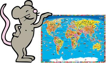 mousepad-kinder-weltkarte