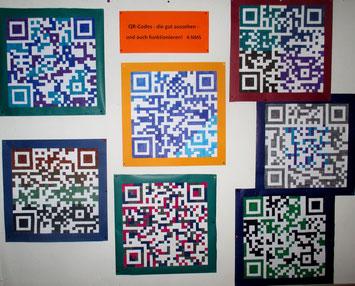 4.NMS:  Unsere QR-Codes sehen nicht nur gut aus - sie funktionieren auch!