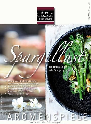 """Cover der Onlinezeitschrift """"Aromenspiel"""""""