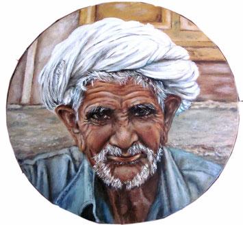 Alter Mann aus Indien