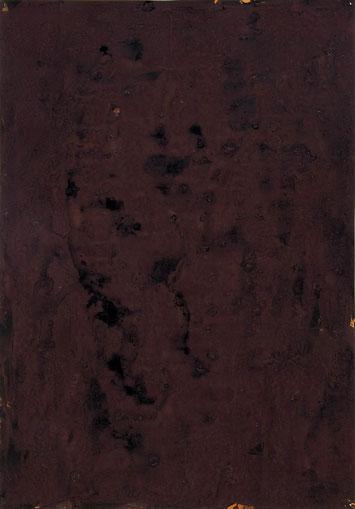 Selbst orange 2012 Temperafarbe 62,8 x 44 cm