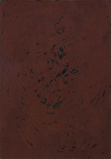 Selbst 2012 Temperafarbe 62,7 x 43,8 cm