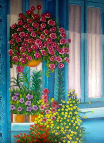 le soleil, les fleurs accrochées aux fenêtres, c'est un parfum d'été