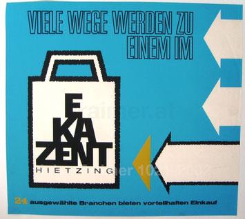 ekazent hietzing plakatwerbung 1960er jahre