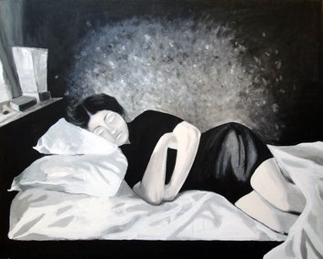 Mondkind, 79 x 58 cm, Acryl auf Leinwand, 2007.