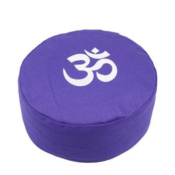 Meditationskissen OM bestickt violett