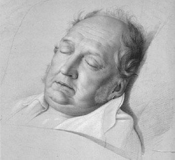bsonders BAYERISCH Artikel - König Max auf dem Sterbebett