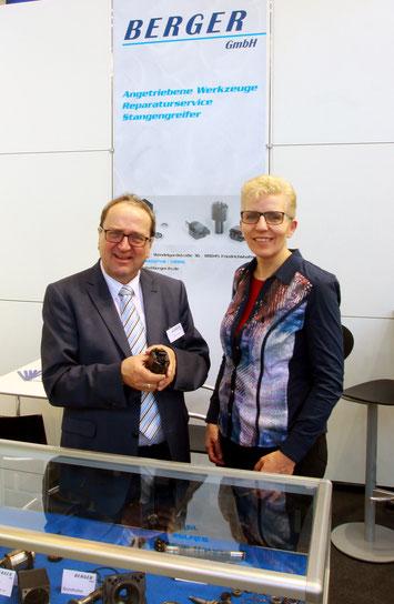 Geschäftsführer Viktor Treß und Jutta Treß auf der Messe Turning Days 2017.