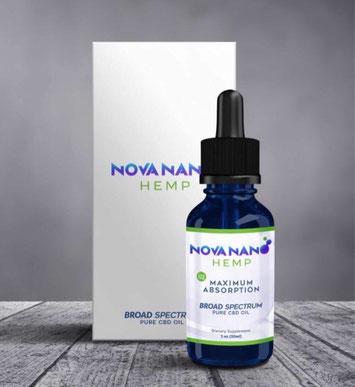 Nova Nano Hemp es un aceite 100% orgánico de cannabis medicinal creado con Nanotecnología
