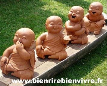 4 bouddhas rieurs
