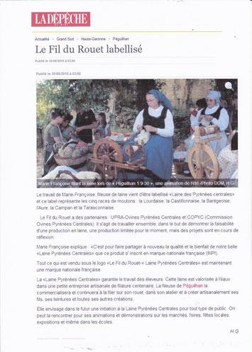 La Dépêche du Midi   30 septembre 2015