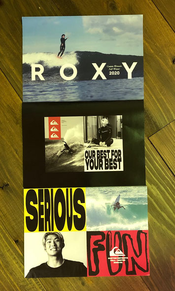 QUIKSILVER & ROXYは今回はハイラインのピンポイントに絞ったカタログです。