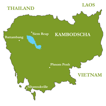 Reiseroute - ein ganzes Land entdecken: Kambodscha total