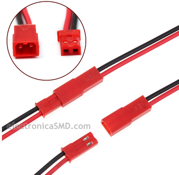 Cable conector JST 2pines Electronica Electronico Guatemala ElectronicaSMD