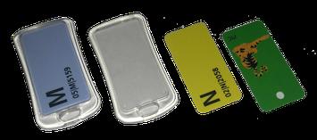 RFID Schlüsselanhänger Mifare Keys Token EM4200 Hitag Tropfen Rund Classic Evolution glastag