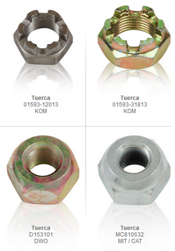 tuercas direccion traccion partes refacciones accesorios montacargas mexico