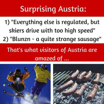 Was hat dich am meisten an Österreich überrascht? Das sind die Antworten meiner internationalen Kursteilnehmer :-) Schnelles Schifahren, Blutwurst