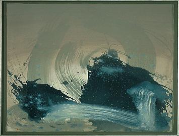Blau mit Kraft - Acryl auf Leinwand, 2000 (55x70)