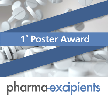 Flyer cover with pharma excipients 1st poster award
