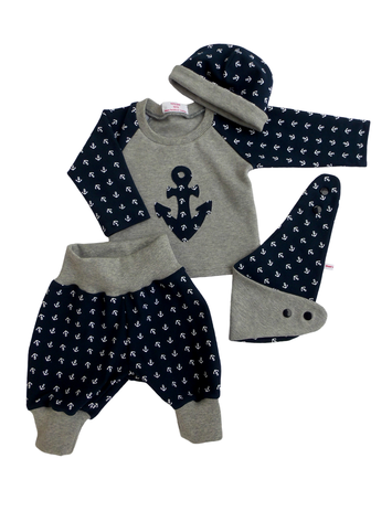 Newborn-Set, little skipper von Herzkind, faire Kindermode, handmade in Berlin