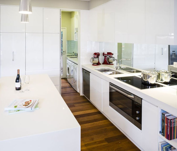 Modern kitchen and laundry designed and built by Sydney Budget Kitchens