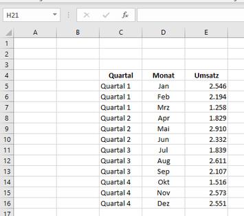 Excel Tipp: Zwischensumme bilden