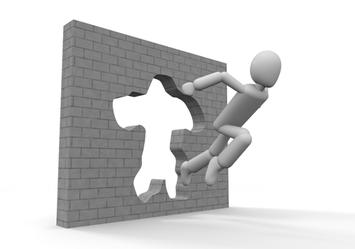 自分の壁を破るイメージ