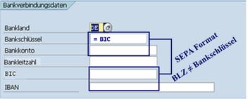 SEPA SAP Bankverbindungsdaten