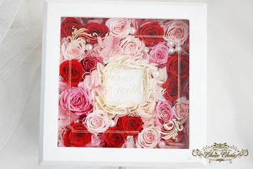 プロポーズ ジュエリーボックス リングホルダー  リングケース  薔薇 刻印 メッセージ オーダーフラワー  シュシュ chouchou