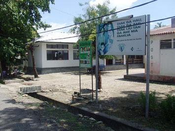L'ingresso del Centro di Salute