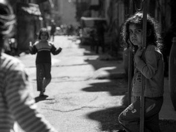 Roma-barn fra bydelen Sulukule