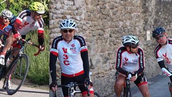 Nos quatre coureurs: Olivier, Bruno, Eric et G2J (de g. à d.)