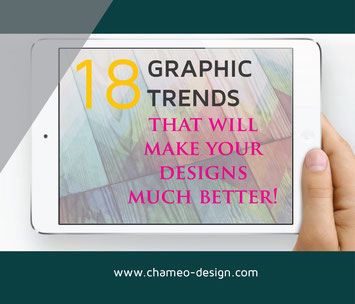 Here's how we can help you making your designs much better. Use our 18 FREE Graphic trends and improve your Brand / Blog and your visual online marketing presence.