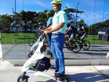 Mit Trikke und Bike in Puerto Plata