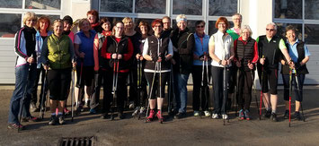 Gruppenfoto Nordic-Walking