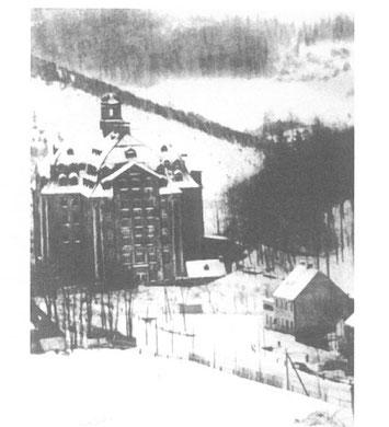 Die Spinnerei Evans im Winter 1896 (Fotograf unbekannt)