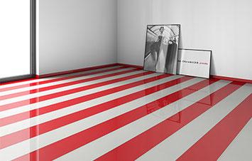 Fußboden in farbenfrohem Desing  © holz-direkt24.com