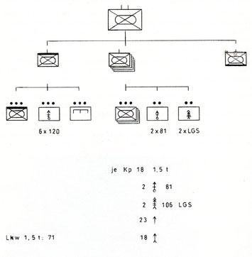 Darstellung eines Grenadierbataillon einer Panzerdivision 1956-1959