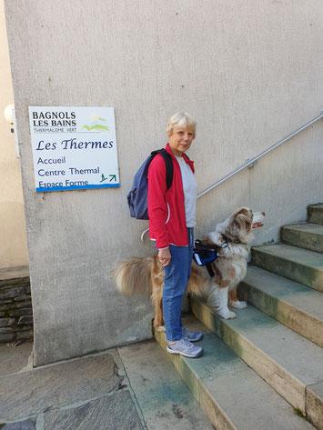 Dominique et Fly lors d'un voyage à Bagnol-les-Bains