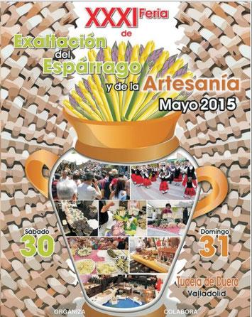 Cartel y programa de la Feria de Exaltación del Espárrago y de la Artesanía 2015 en Tudela de Duero